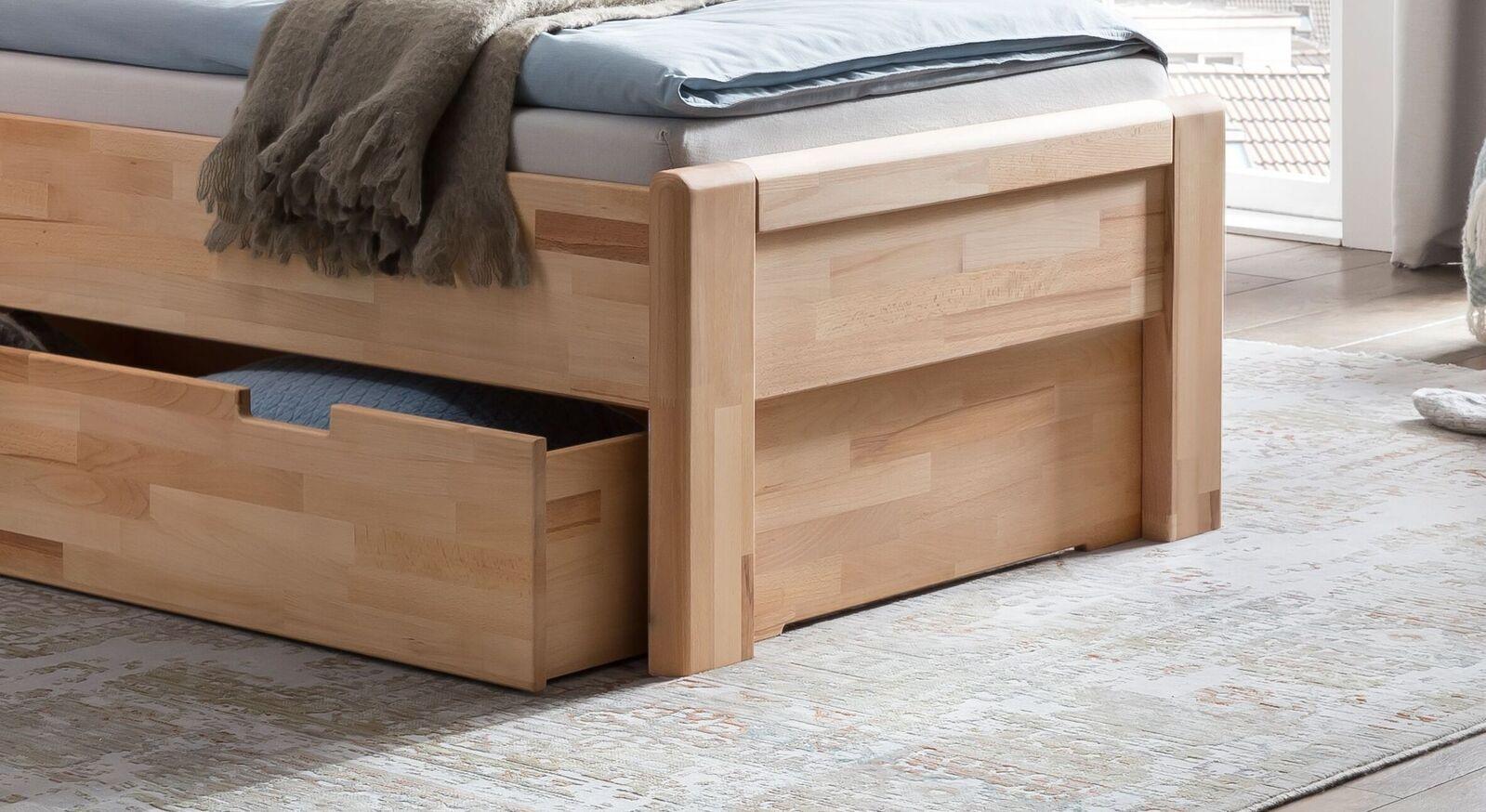Schubkasten-Seniorenbett Ewen mit Komfort-Liegehöhe