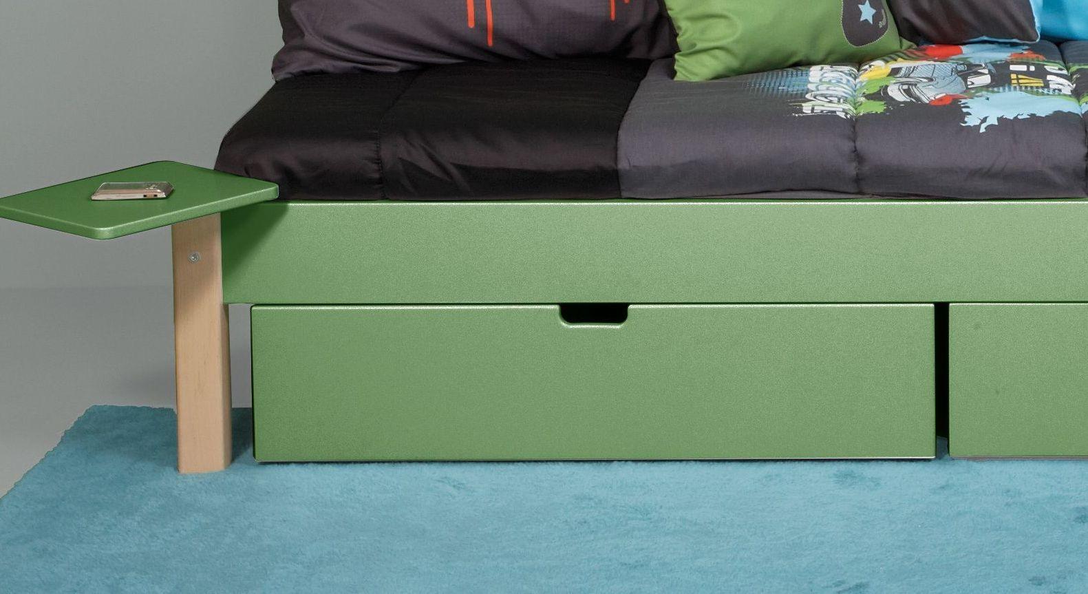 Schubkastenbett Kids Town Color mit zusätzlichem Stauraum