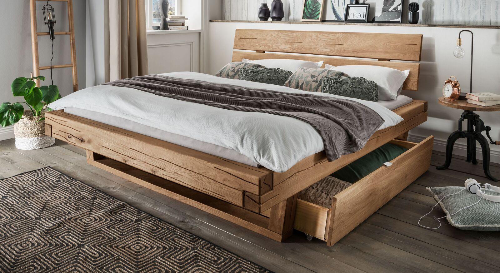 Schubkastenbett Romeno mit Holzkufen