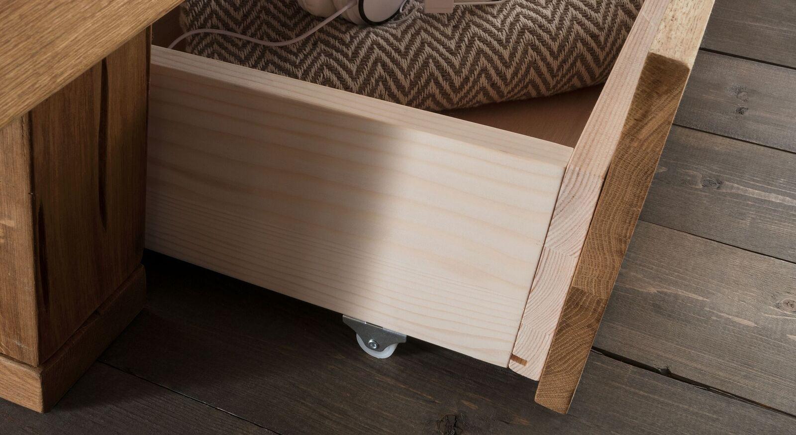 Schubkastenbett mit praktischer Schublade