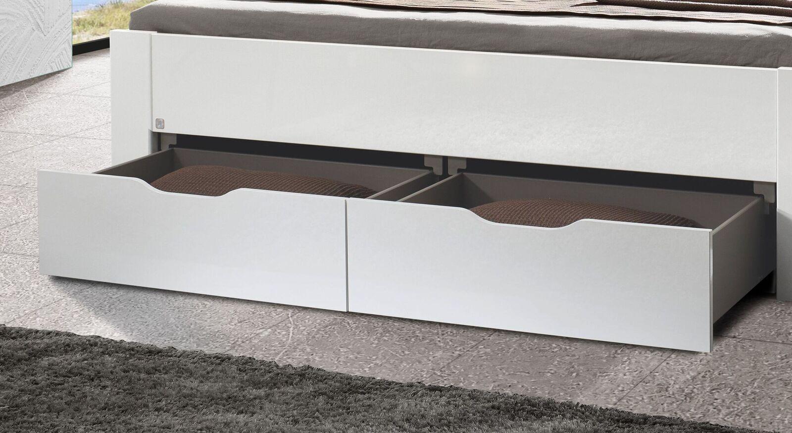 Schubkastenbett Siberio mit schlichten Griffmulden