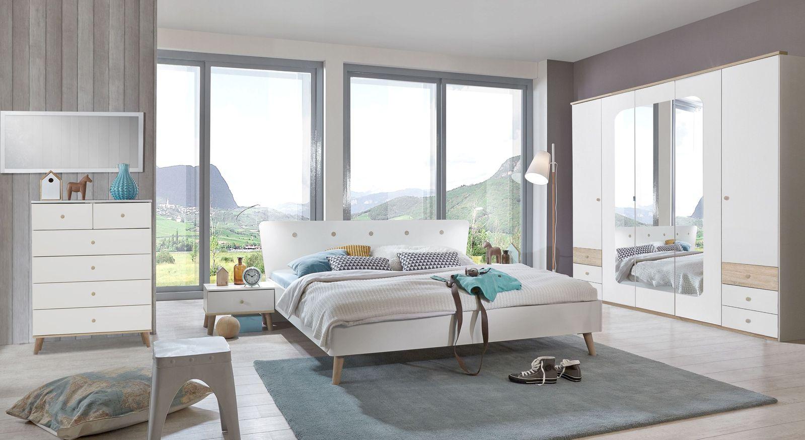 Passende Schlafzimmermöbel zur Schubladen-Kommode Corvara