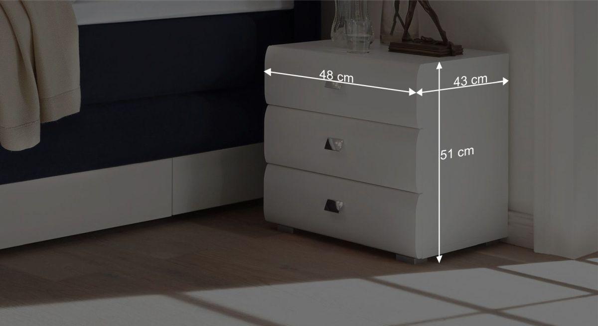Bemaßungsgrafik zur Schubladen-Kommode Rotondo 01