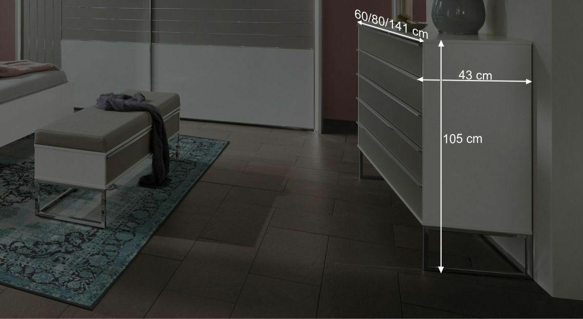 Bemaßungsgrafik zur Schubladen-Kommode Waterbury