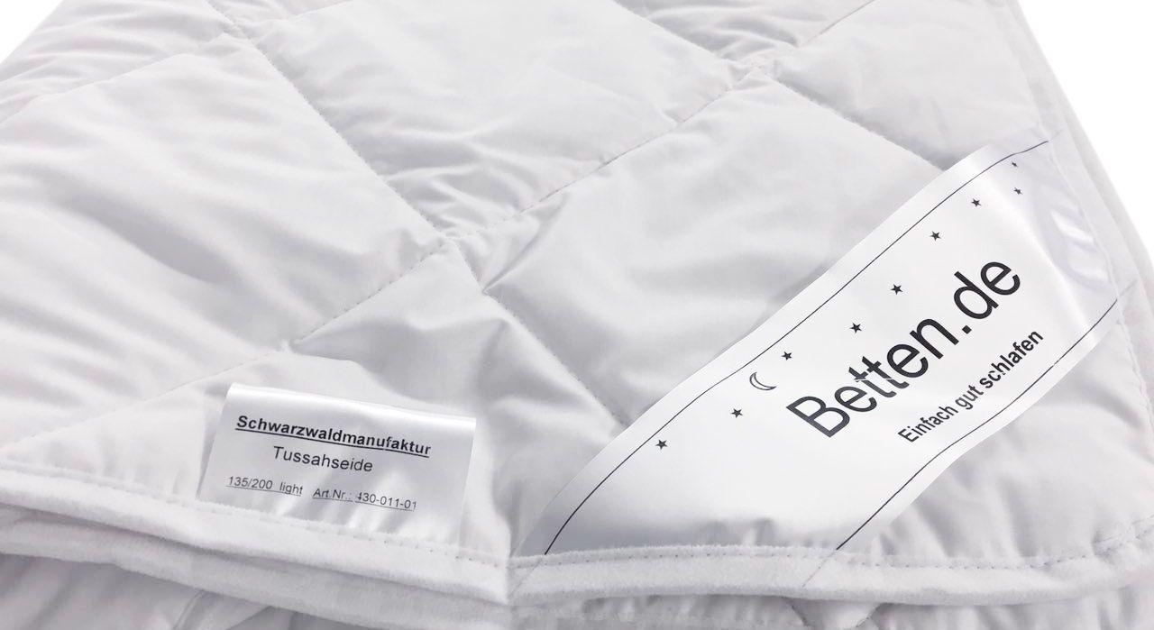 Seide-Bettdecken der Schwarzwaldmanufaktur mit durchdachter Steppung