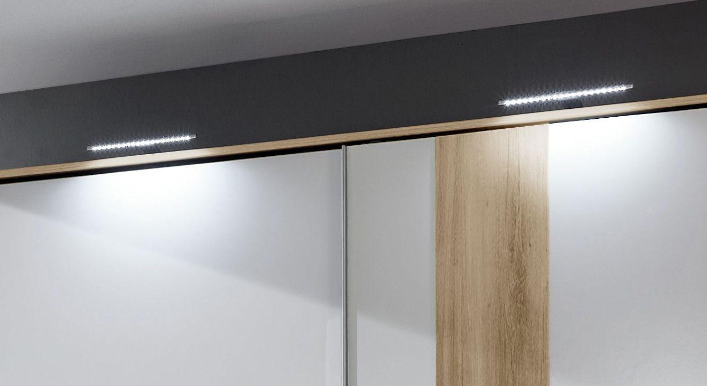 Schwebeüren-Kleiderschrank Bellgra optional mit Passepartoutrahmen und Beleuchtung