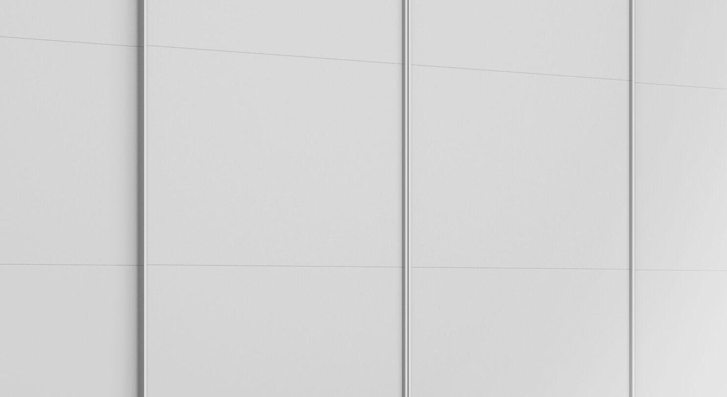 Schwebetüren-Kleiderschrank Eleisa mit Chrom-Griffleisten