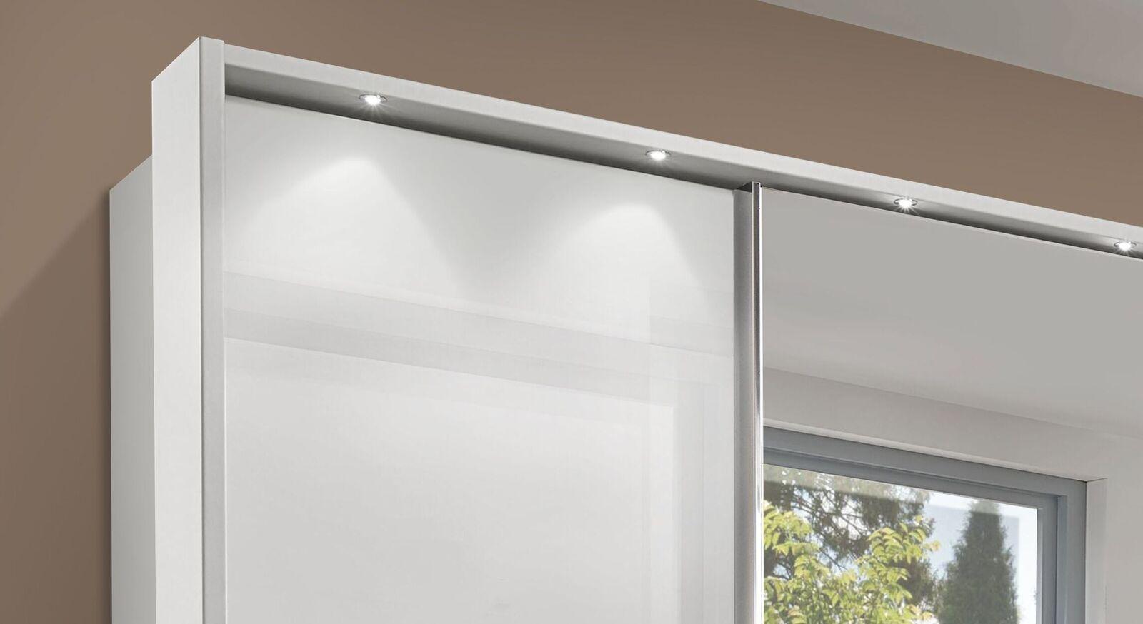 Schwebetüren-Kleiderschrank Everett mit optionalem Rahmen