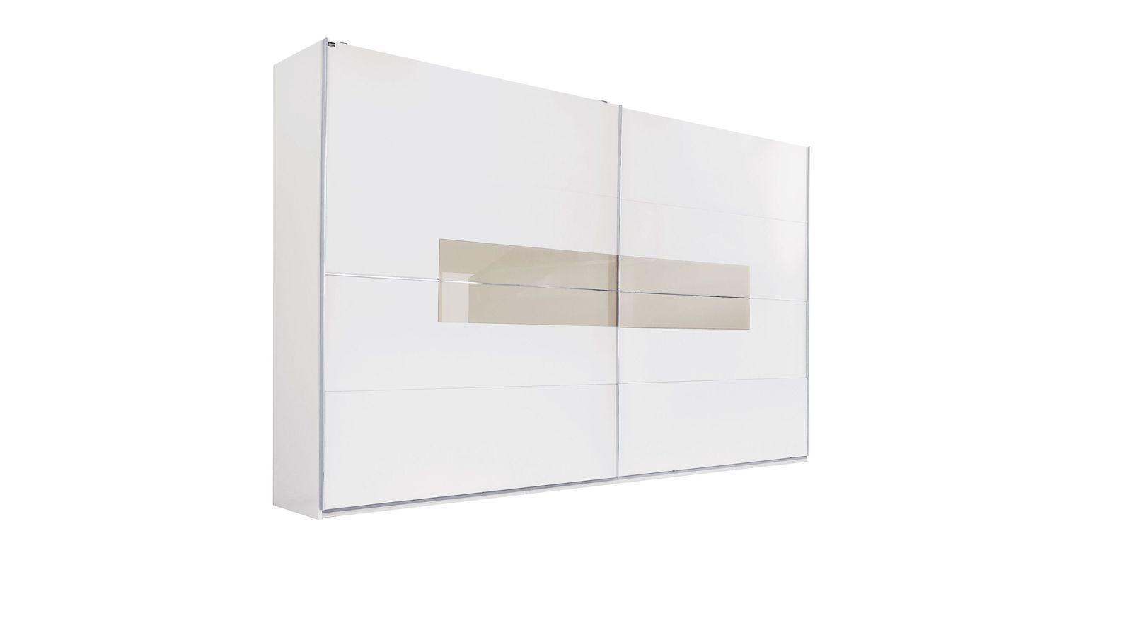 Schwebetüren-Kleiderschrank Filetto inklusive Einlegeboden und Kleiderstange