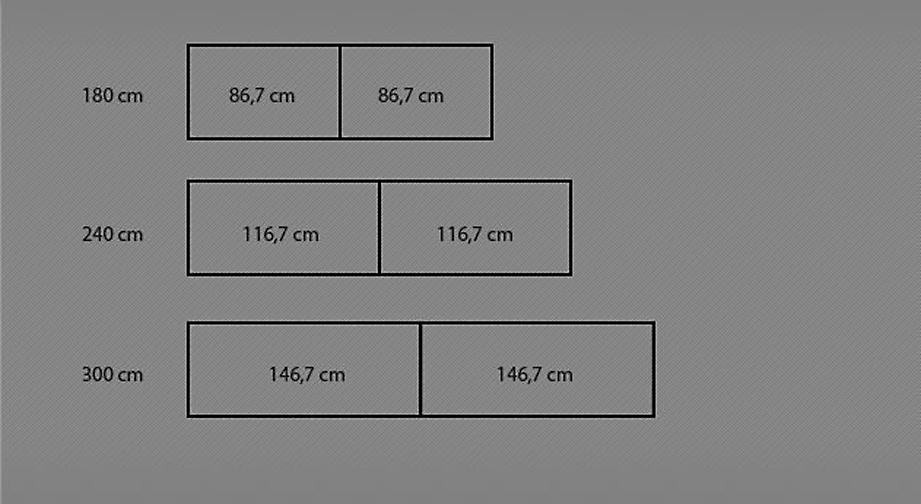 Grafik zur Breite des Schwebetüren-Kleiderschranks Imst