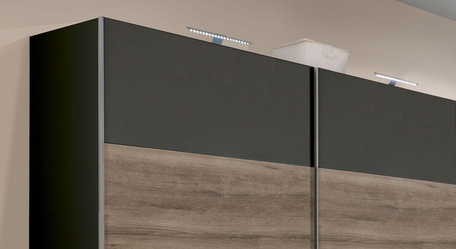Schwebetüren-Kleiderschrank Lika aus robuster Spannplatte