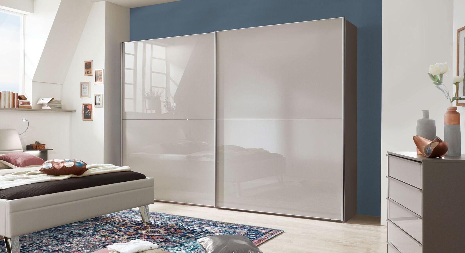 Schwebetüren-Kleiderschrank Livingston mit eleganter Glasfront