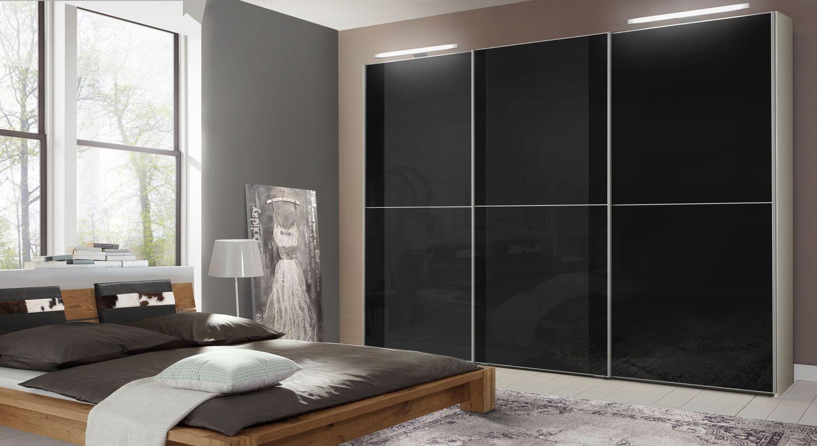 Moderner Kleiderschrank Mit Schwarzen Schiebeturen Madison