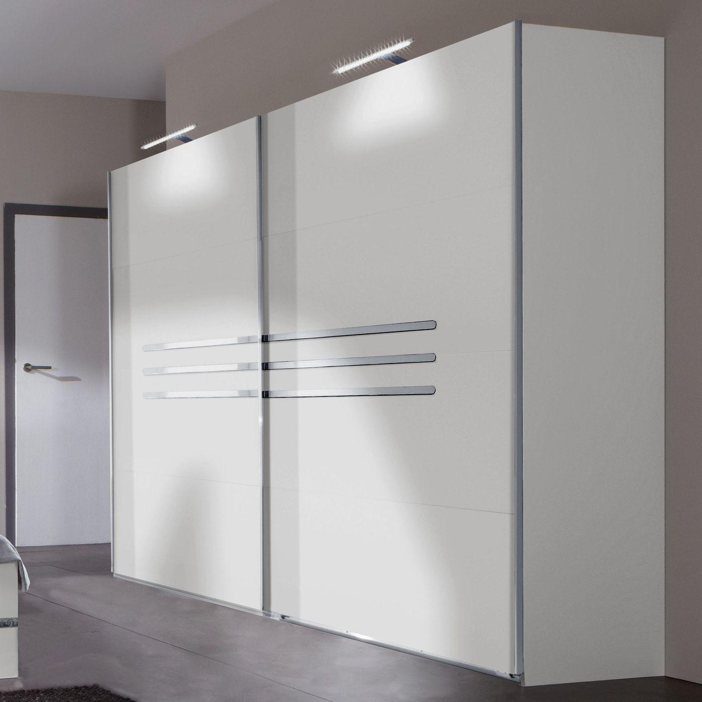 225 cm breiter schwebet renschrank wei mit zierleisten manati. Black Bedroom Furniture Sets. Home Design Ideas