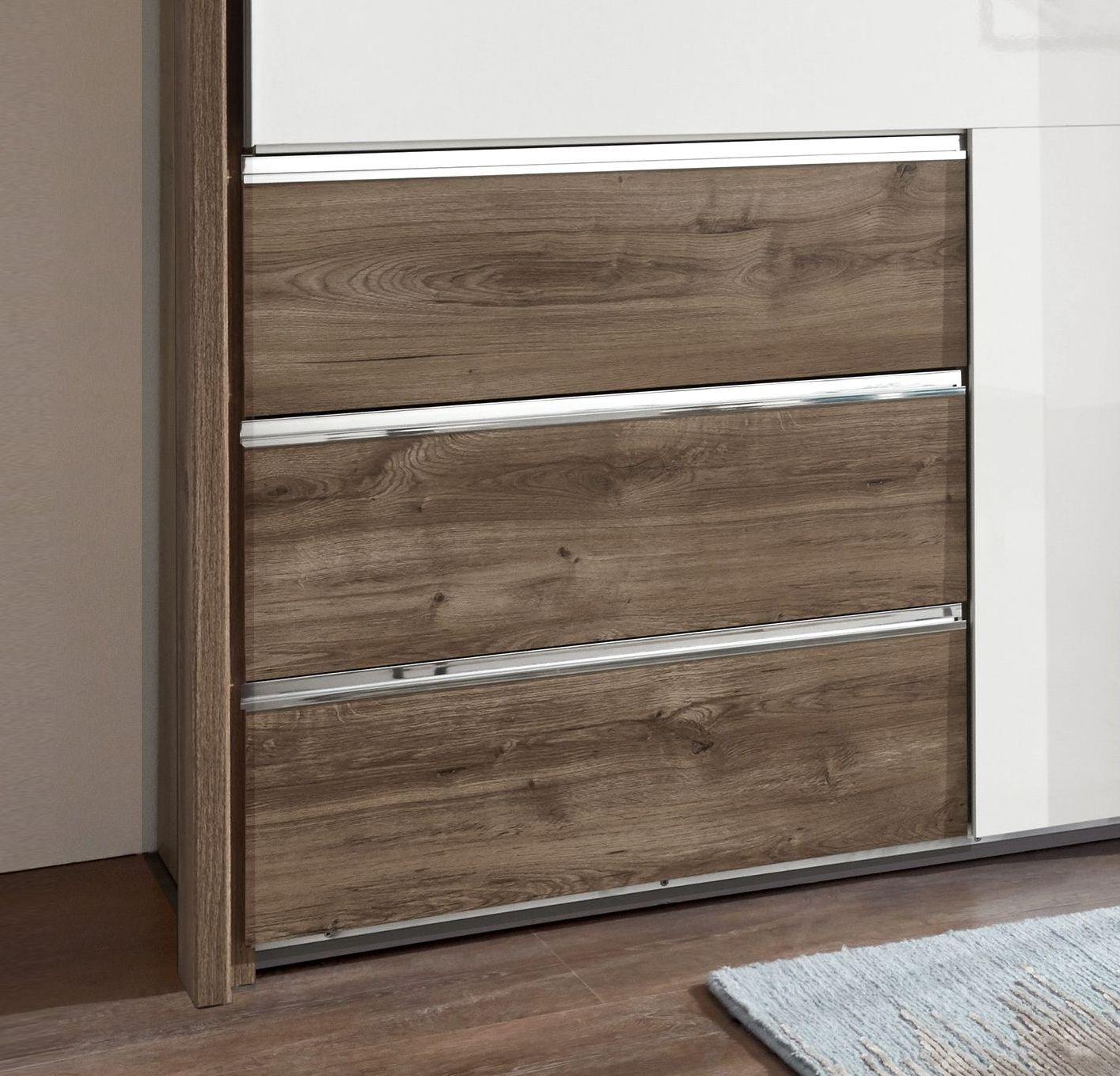 mit schubladen und einlegebden great schuhregal weiss komplett mit schubkasten und tren und. Black Bedroom Furniture Sets. Home Design Ideas