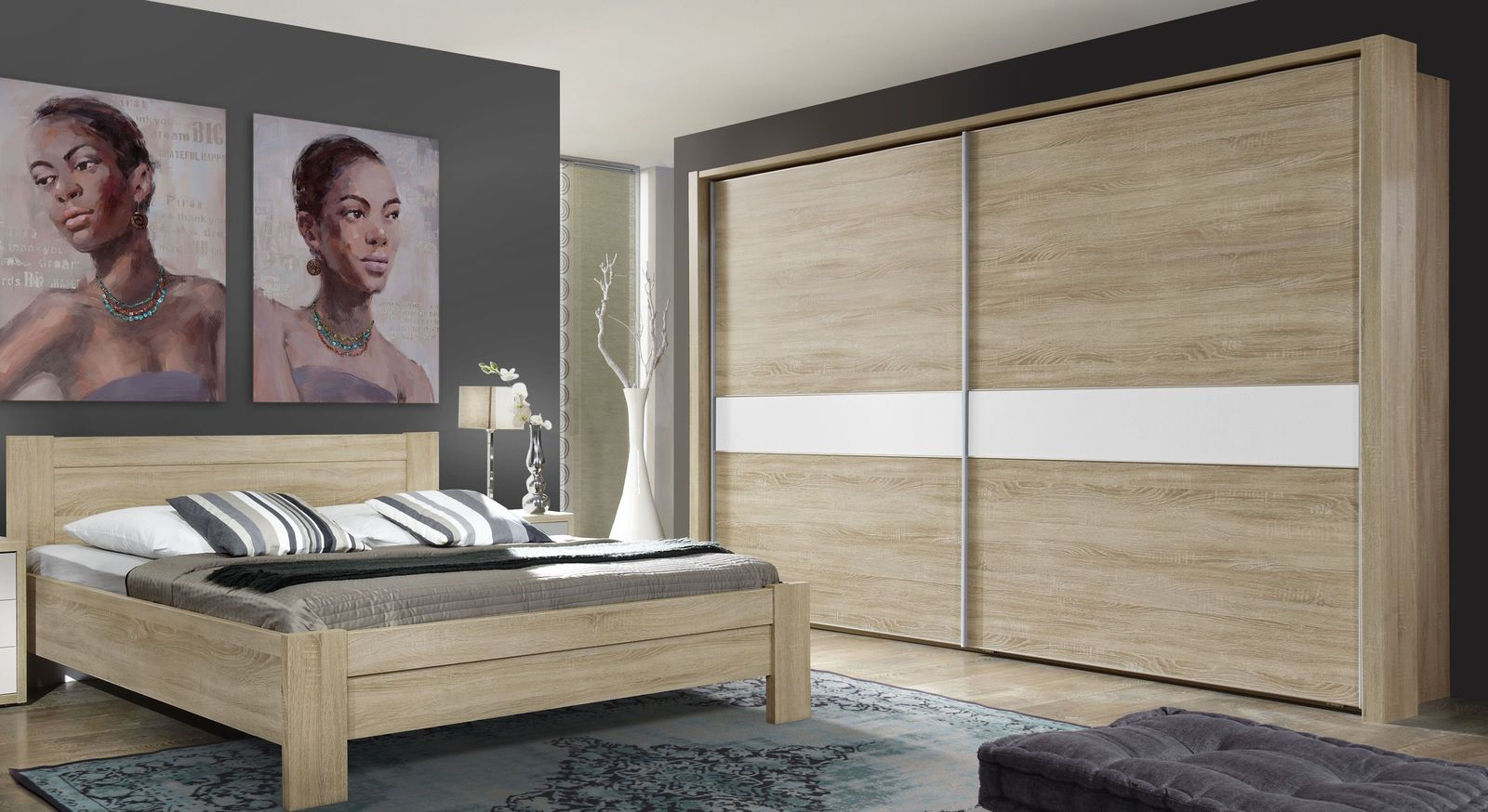 schwebet renschrank eiche dekor inkl innenausstattung oakville. Black Bedroom Furniture Sets. Home Design Ideas