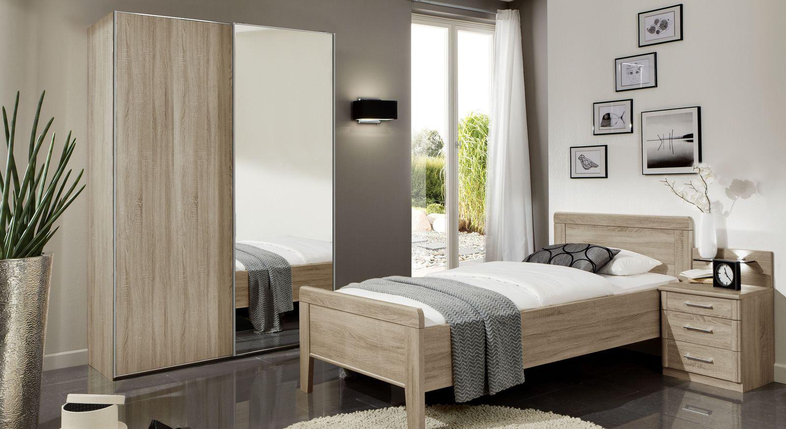 Schwebetüren-Kleiderschrank Palmira optional mit Spiegeltür