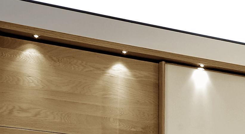 Schwebetüren-Kleiderschrank Praia mit optionaler LED-Beleuchtung