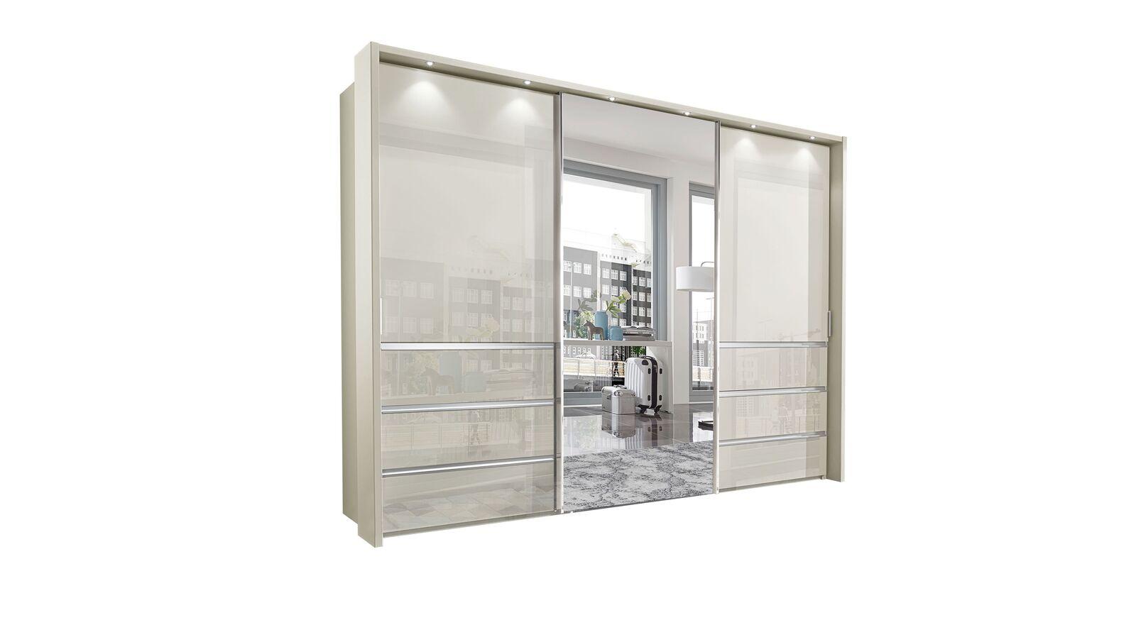 Schwebetüren-Kleiderschrank Ramsey in 300 cm Breite