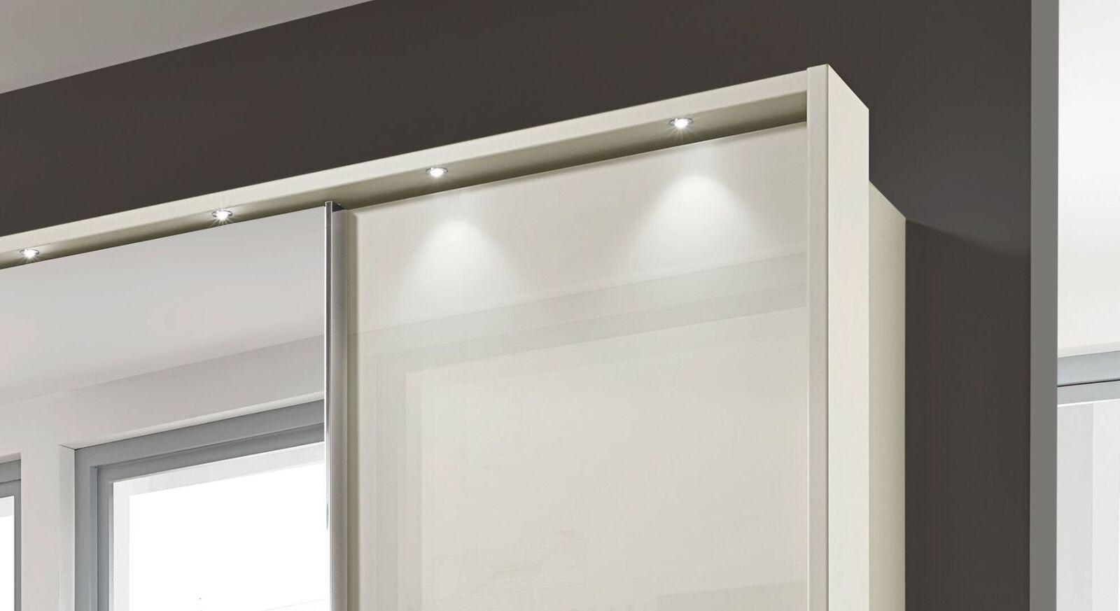 Schwebetüren-Kleiderschrank Ramsey optional mit LED-Beleuchtung