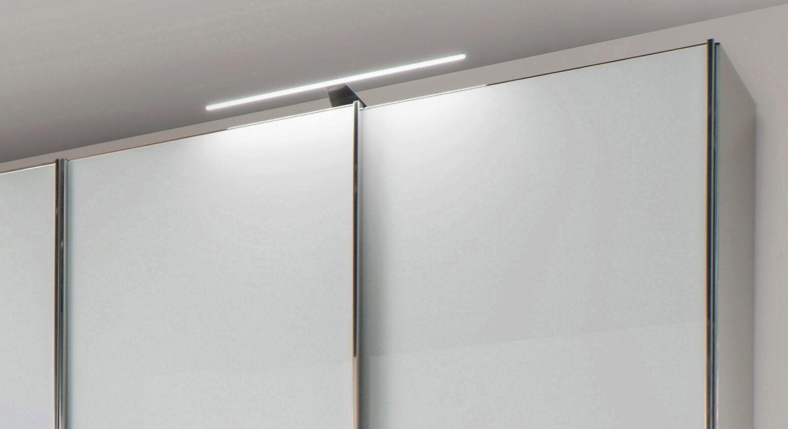 Schwebetüren-Kleiderschrank Shanvalley mit Aufsatz-Leuchte