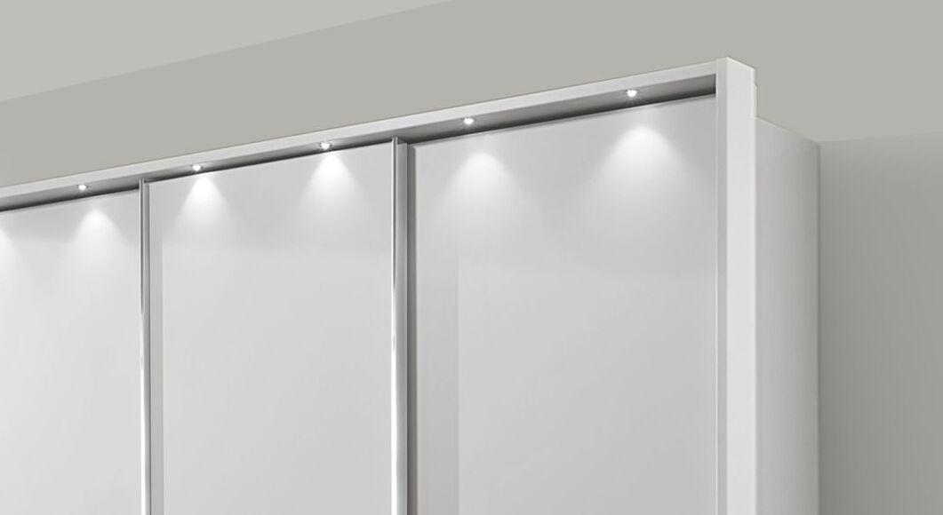 Schwebetüren-Kleiderschrank Tanaria mit attraktivem Rahmen