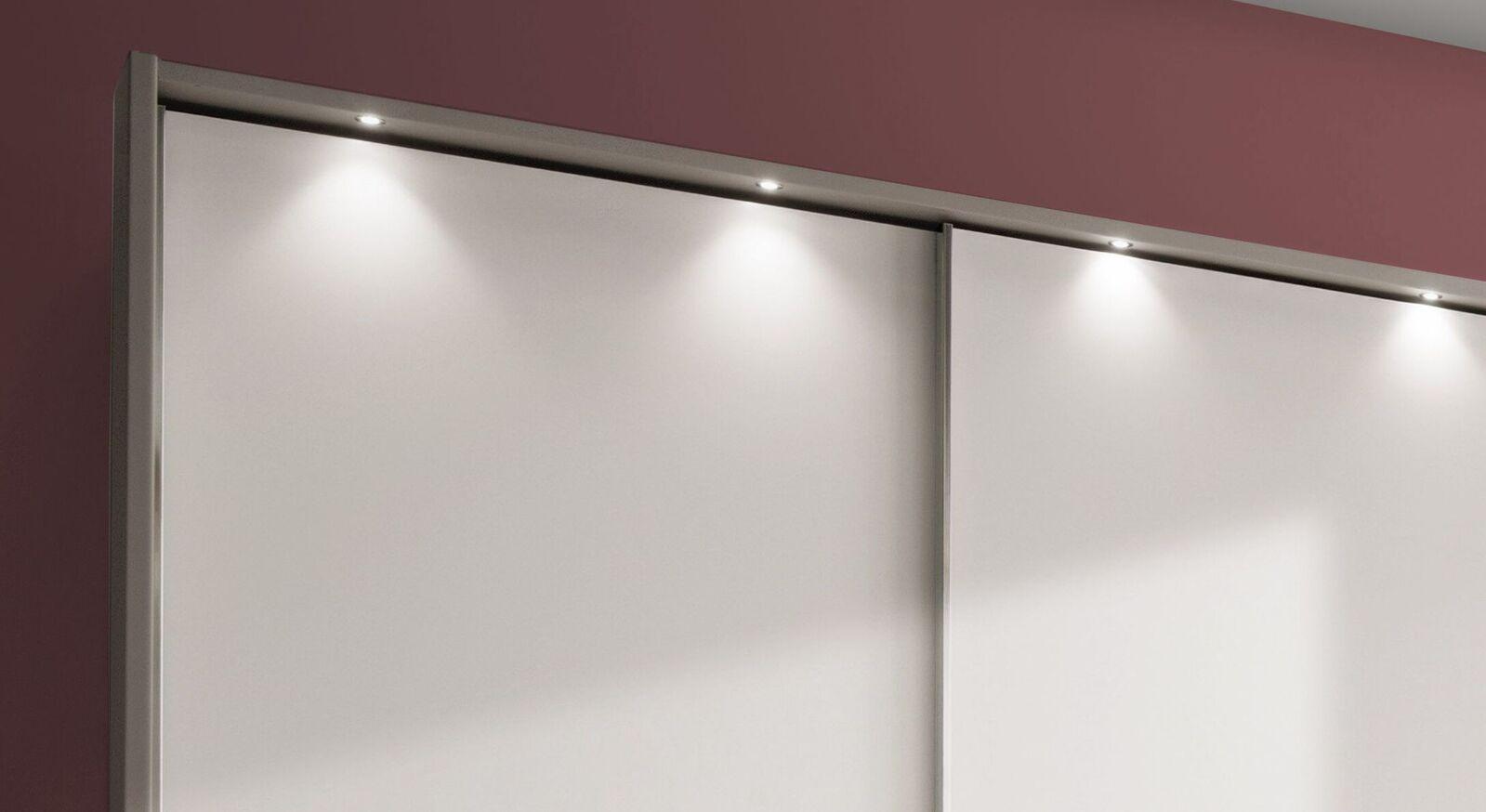 Schwebetüren-Kleiderschrank Tulsa mit LED-Beleuchtung
