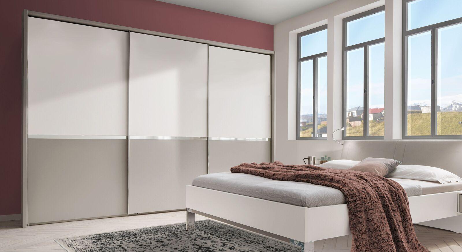 Schwebetüren-Kleiderschrank Tulsa optional mit Passepartout-Rahmen