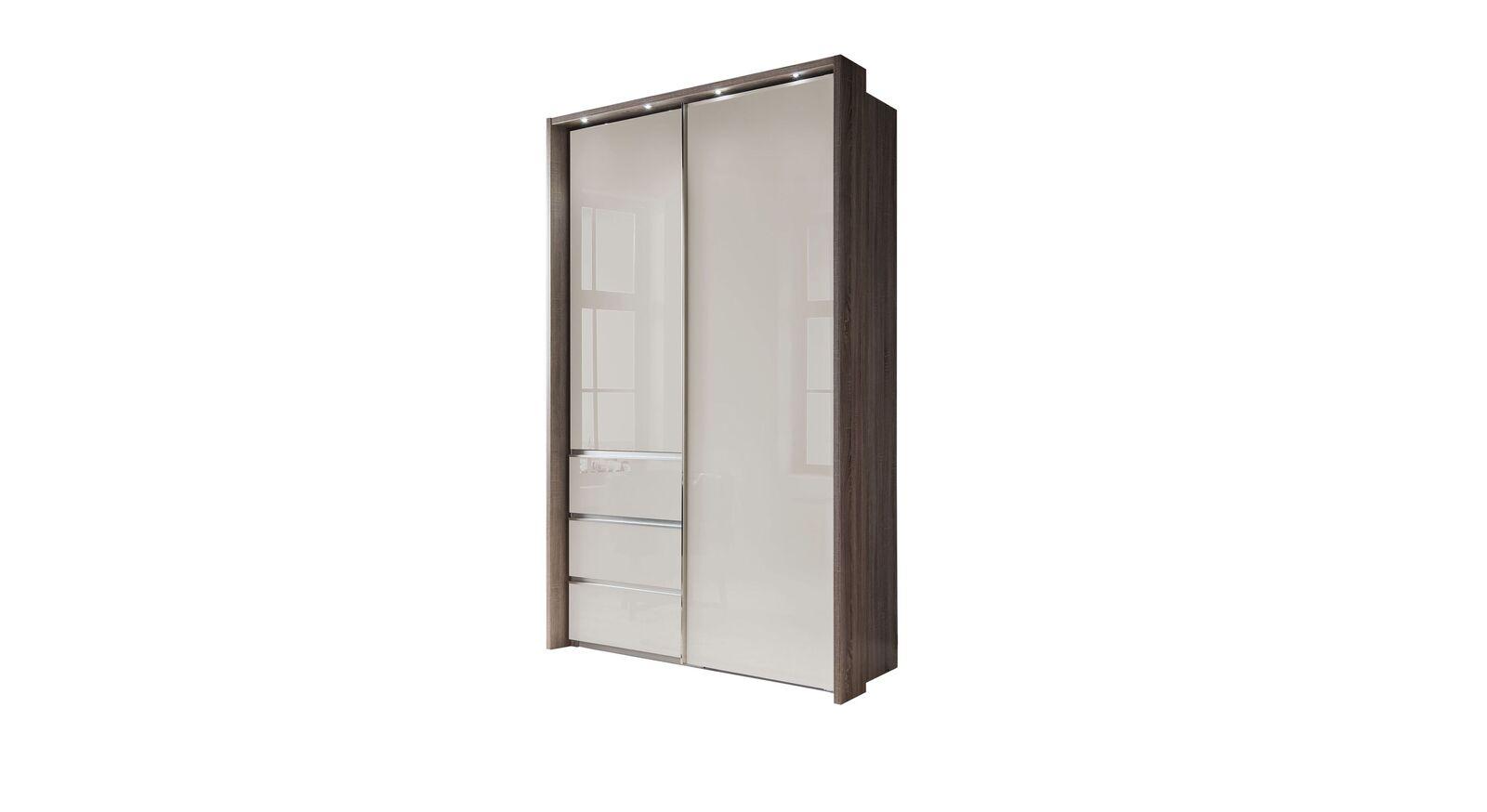 Moderner Schwebetüren-Kleiderschrank Tunica in 165 cm Breite
