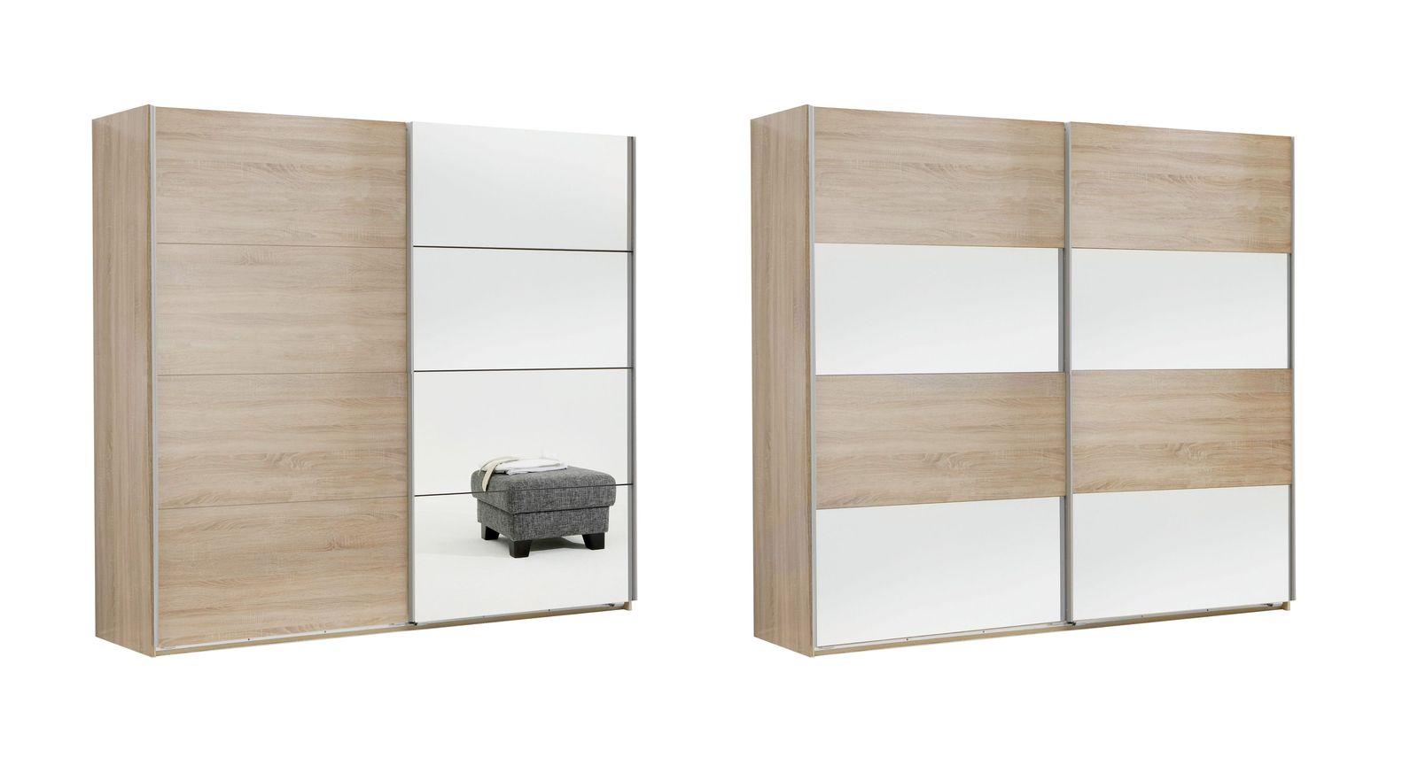 Schwebetüren-Kleiderschrank Turania mit frei platzierbaren Frontelementen