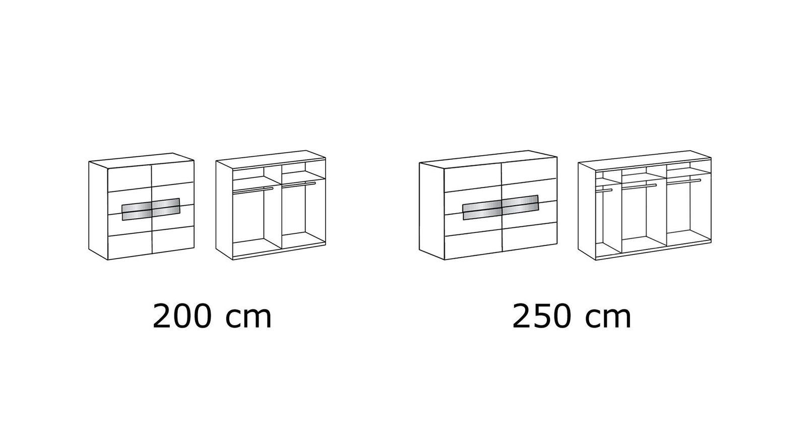 Übersicht-Grafik zum Schwebetüren-Kleiderschrank