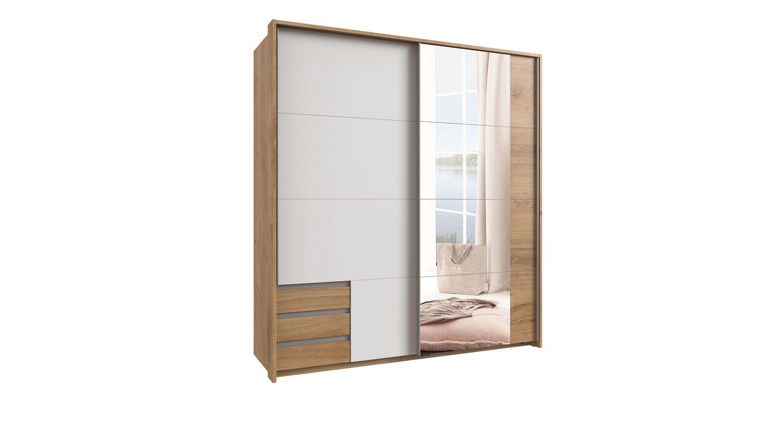 Schwebetüren-Kleiderschrank Vanita optional mit Spiegel und Rahmen