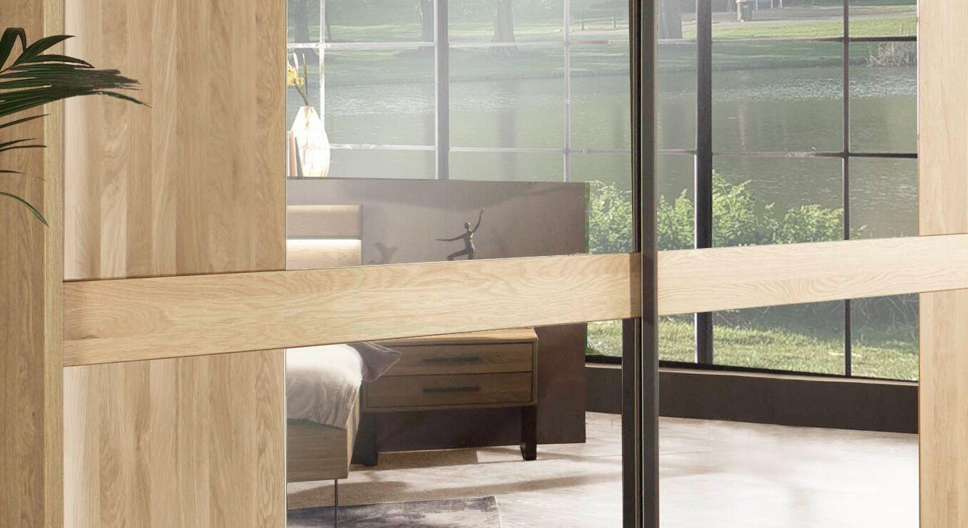 Schwebetüren-Kleiderschrank Vitoria mit großen Spiegeln