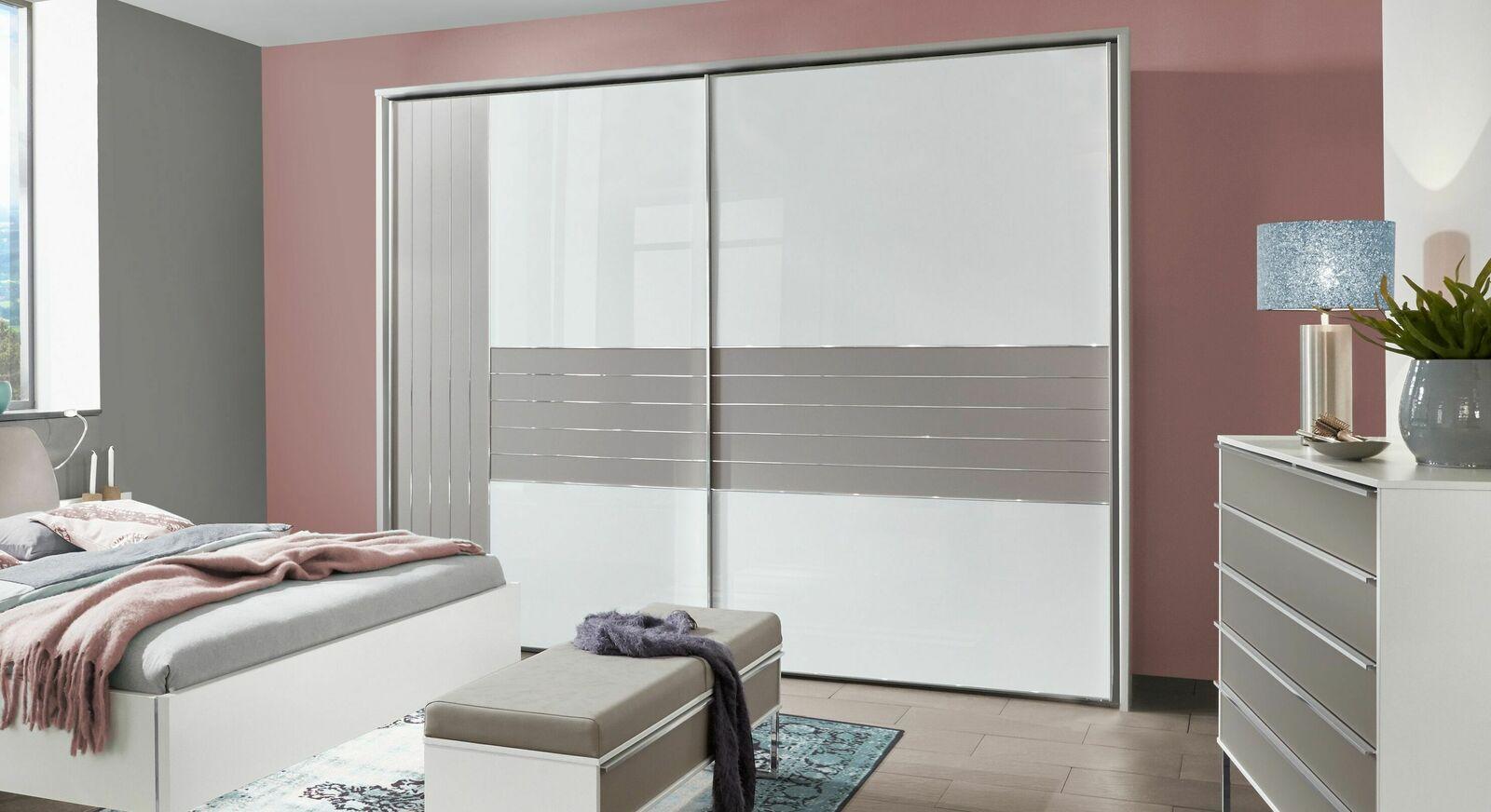 Schwebetüren-Kleiderschrank Waterbury optional mit Passepartout-Rahmen