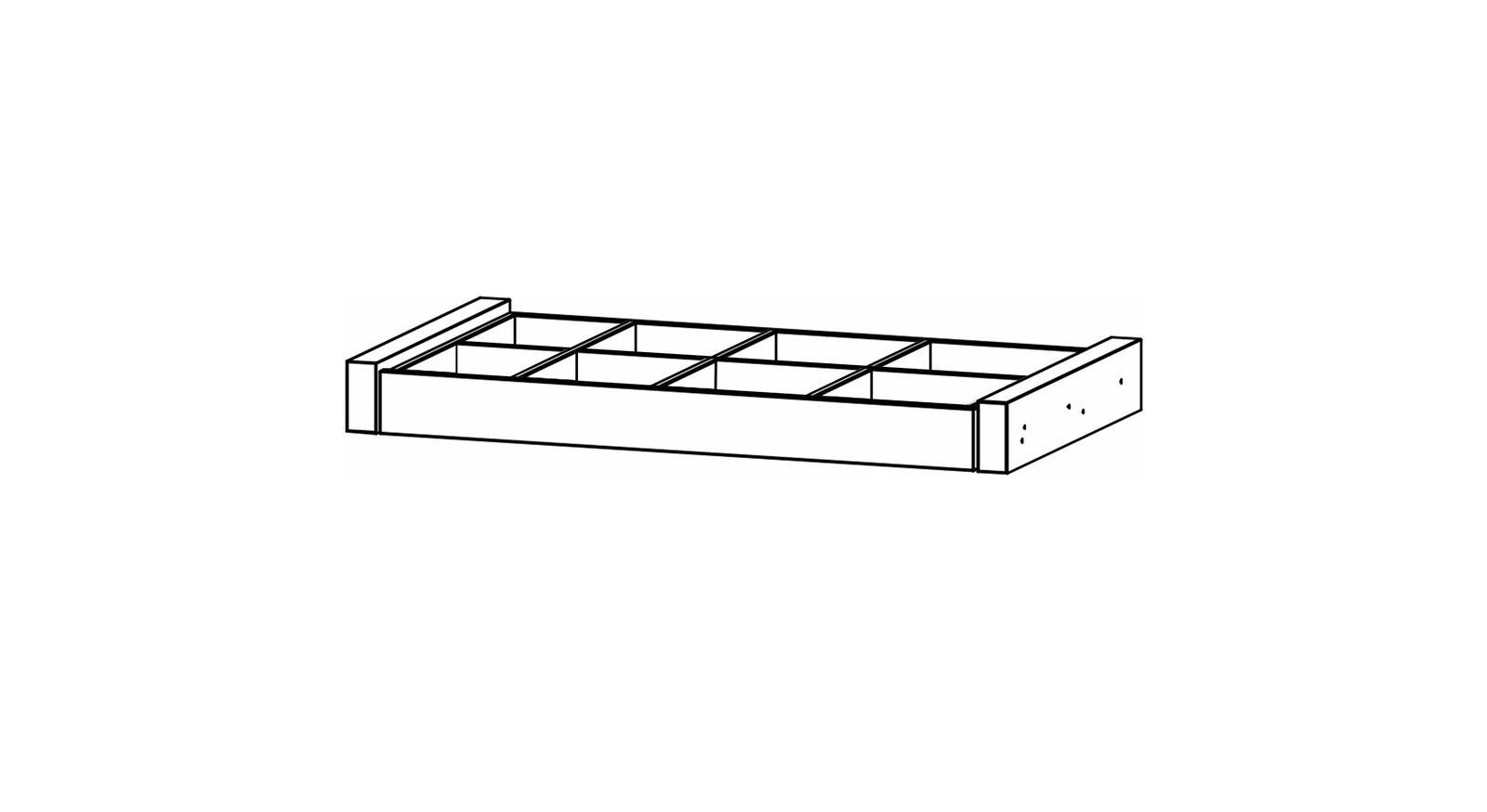 Schwebetüren-Schrank-Zubehör Eleisa - Auszugsboden mit Schubladeneinsatz