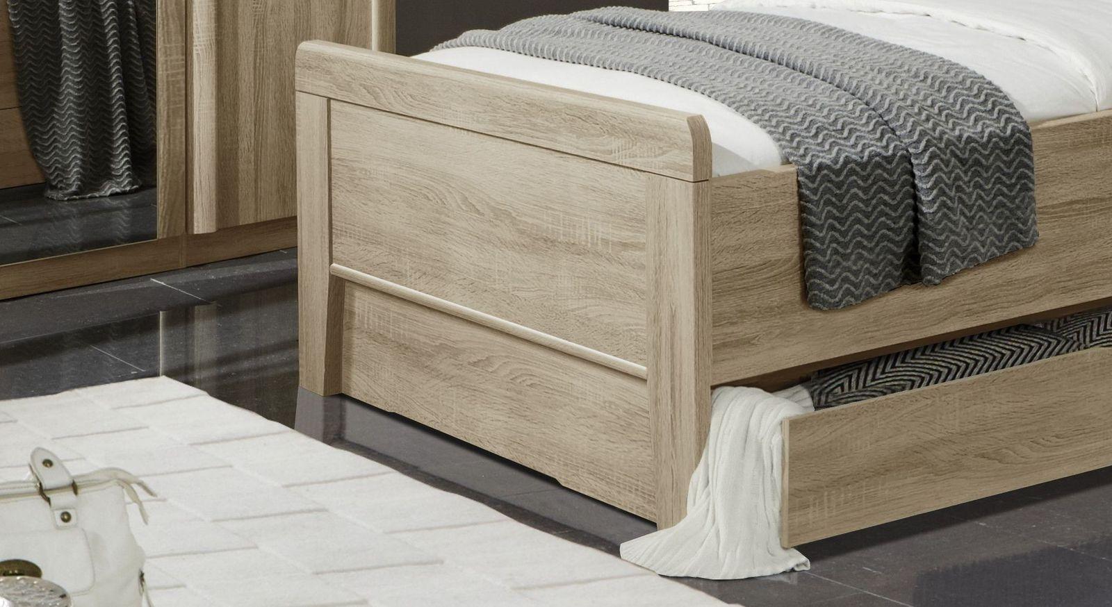 Klassisches Senioren-Schubkastenbett Palmira mit Fußteilverblendung