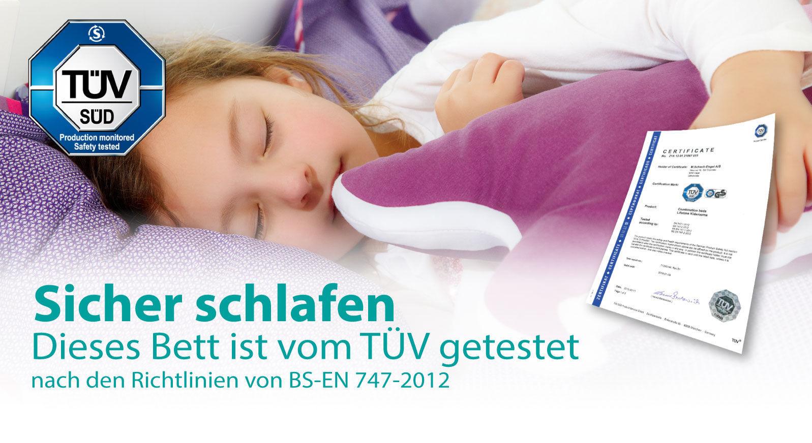 TÜV-Zertifikat LIFETIME für sicheres Schlafen