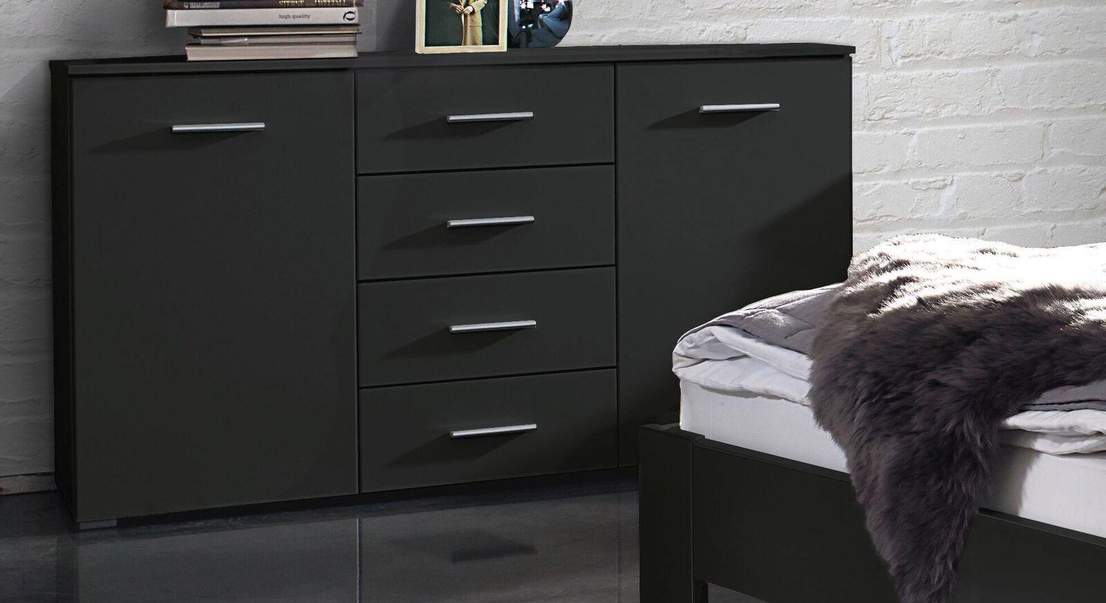 Sideboard Zaida in schlichtem Design in Grau