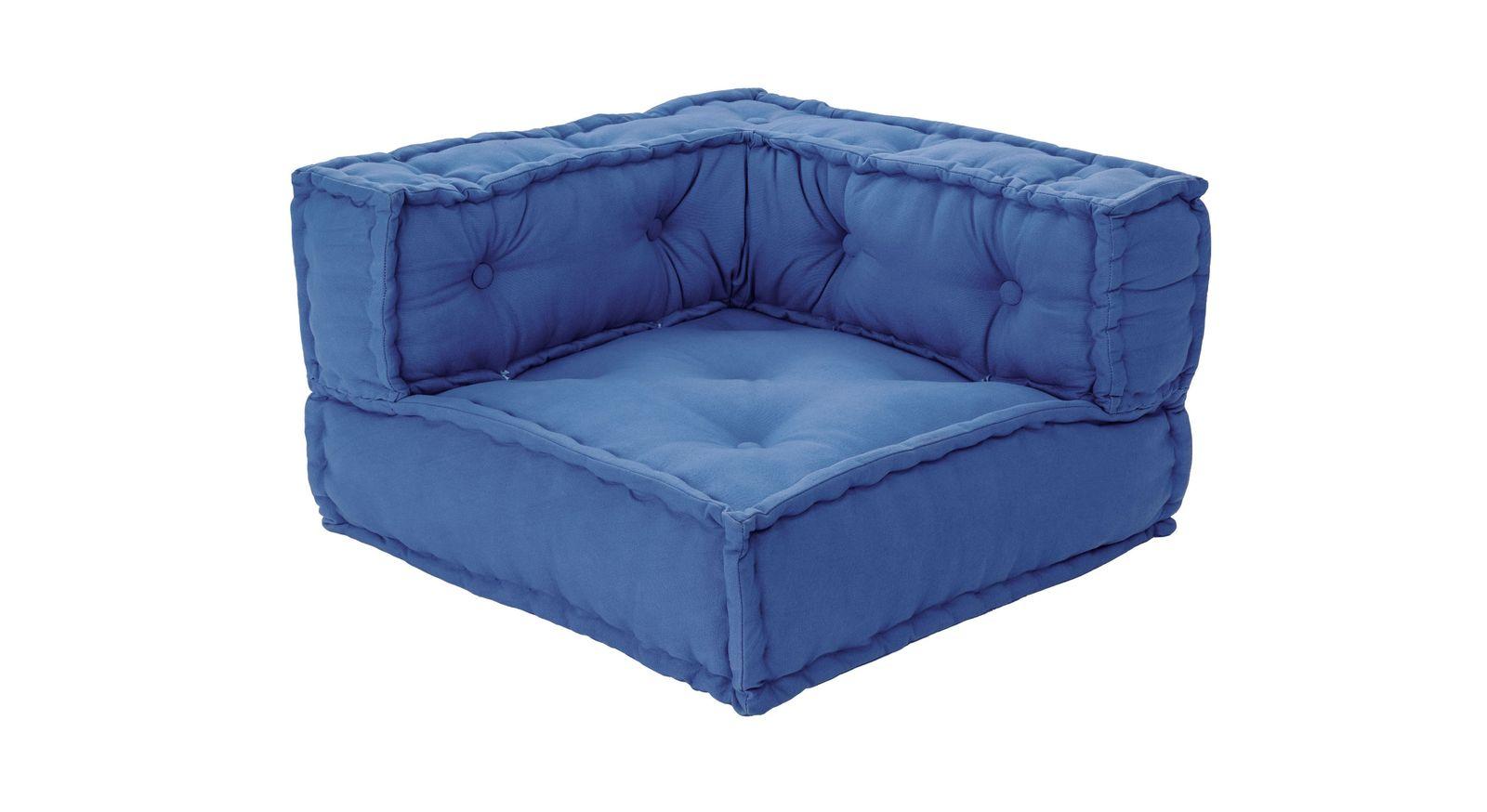 Sitzkissen-Sofa Kids Paradises blaues Ecksitzkissen
