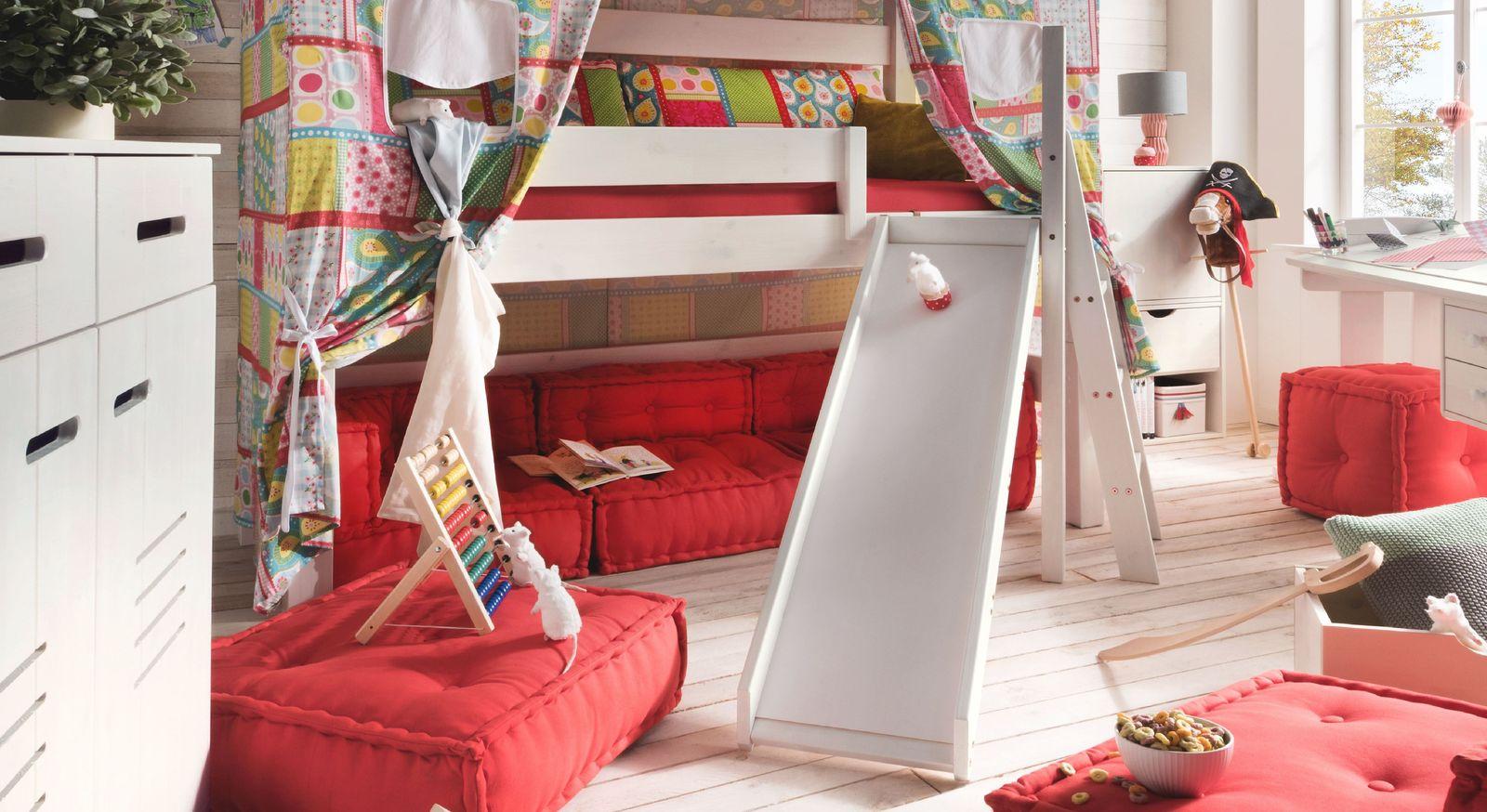 Sitzkissen-Sofa Kids Paradise als ideale Ergänzung zu Hochbetten