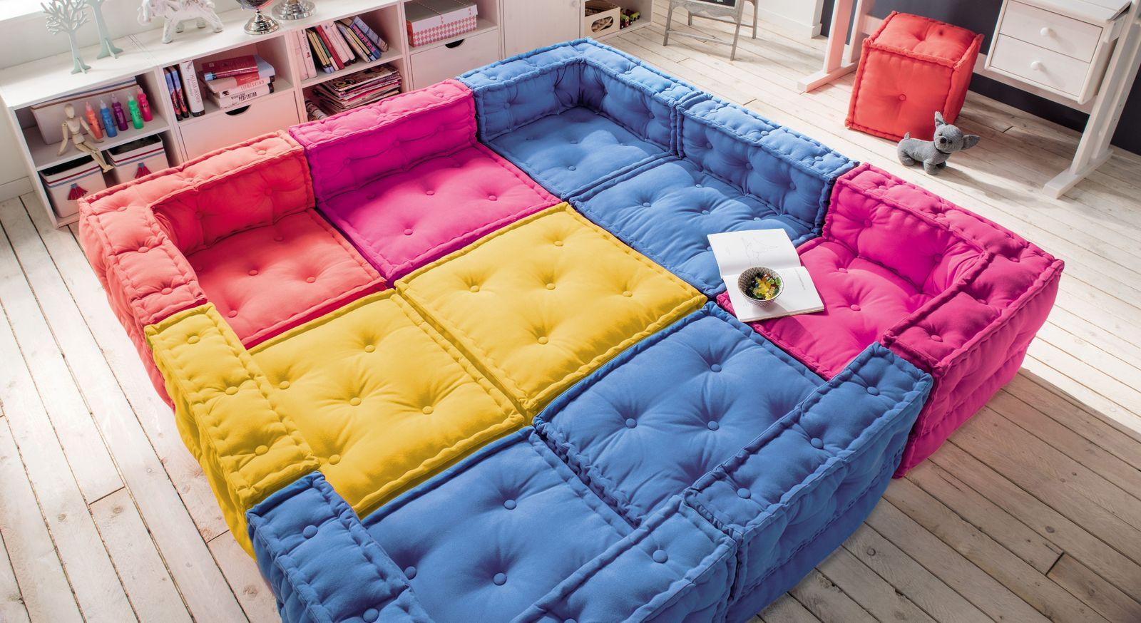 Sitzkissen-Sofa Kids Paradise als komfortable Wohnlandschaft