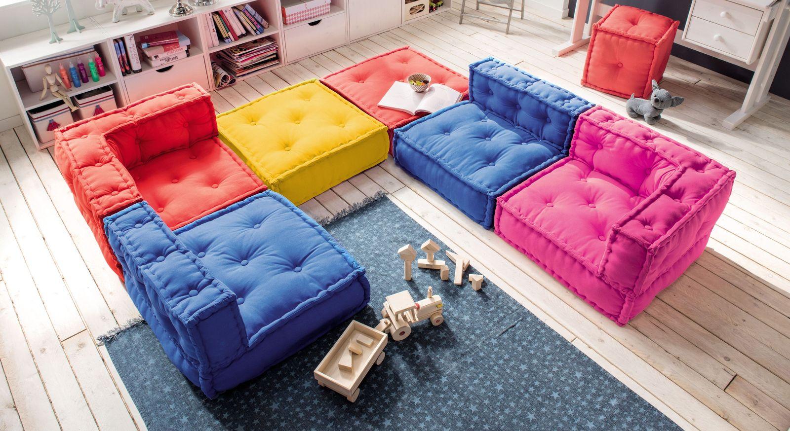 Sitzkissen-Sofa Kids Paradise in leuchtenden Farben