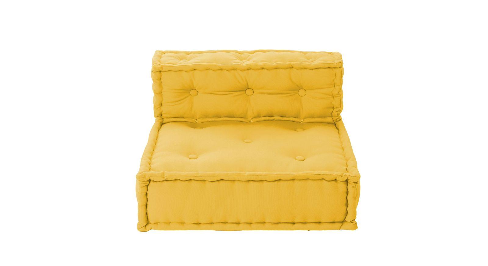Gelbes Sitzkissen-Sofa Kids Paradise mit Lehne