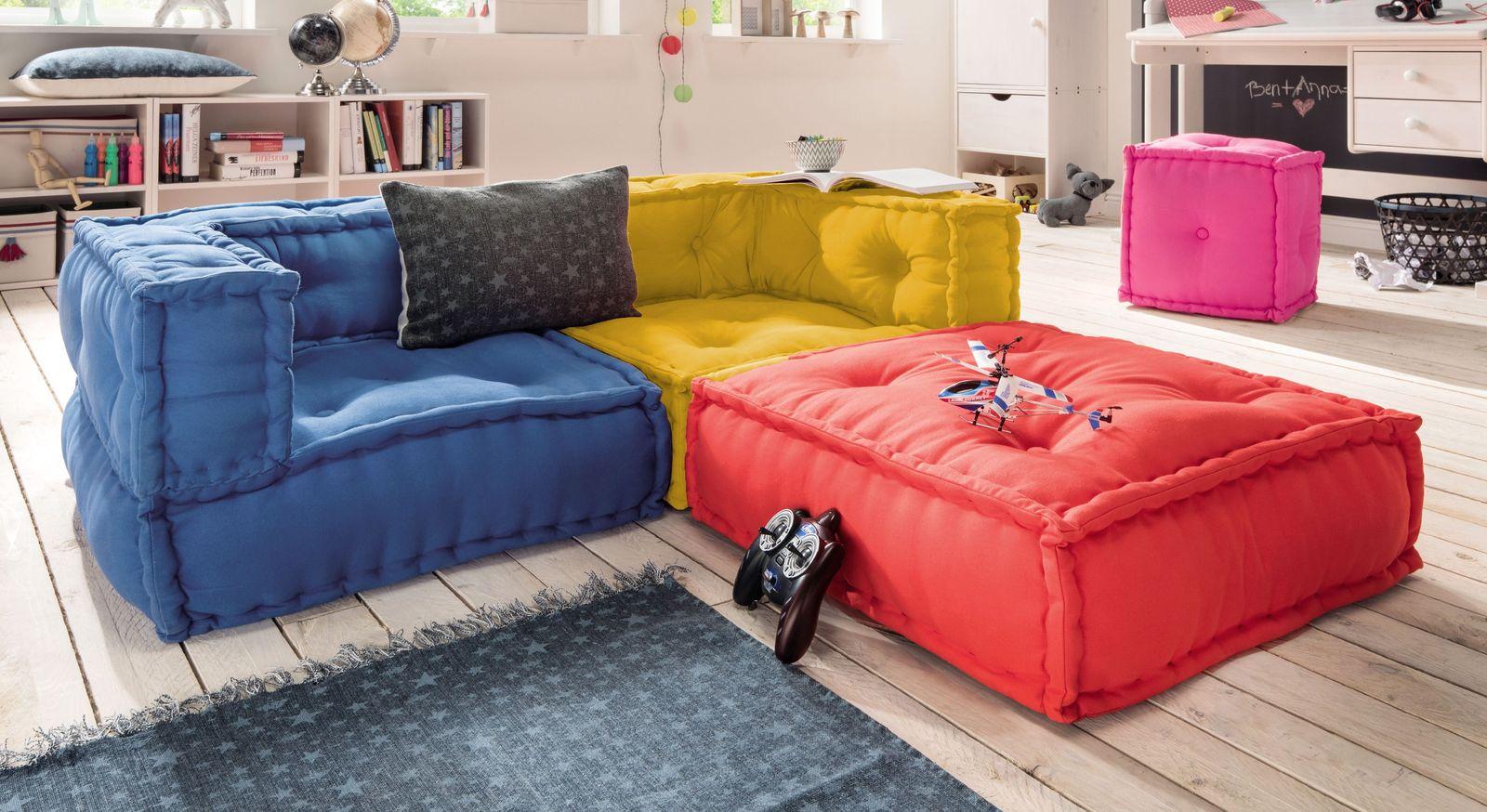 Sitzkissen-Sofa Kids Paradise als innovative Sofalandschaft