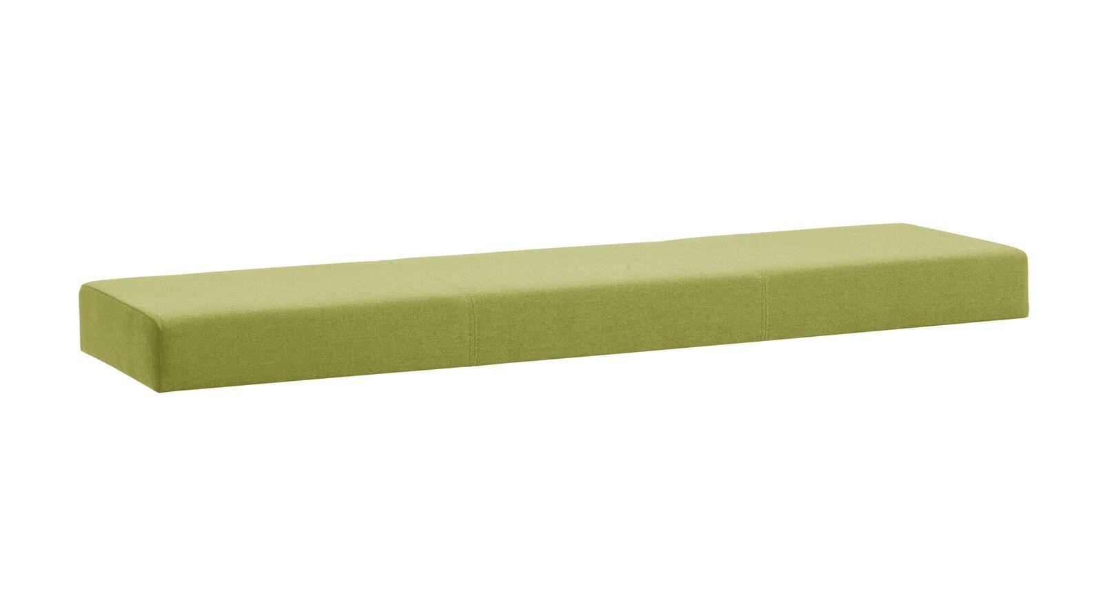 Grünes Sitzkissen Weno aus meliertem Webstoff