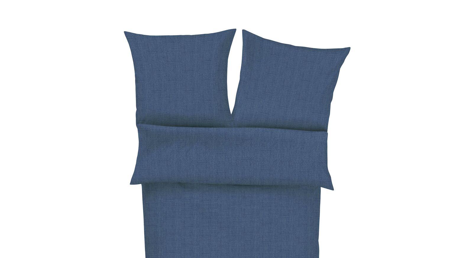 Einfarbige Sommer-Winter-Bettwäsche in blau