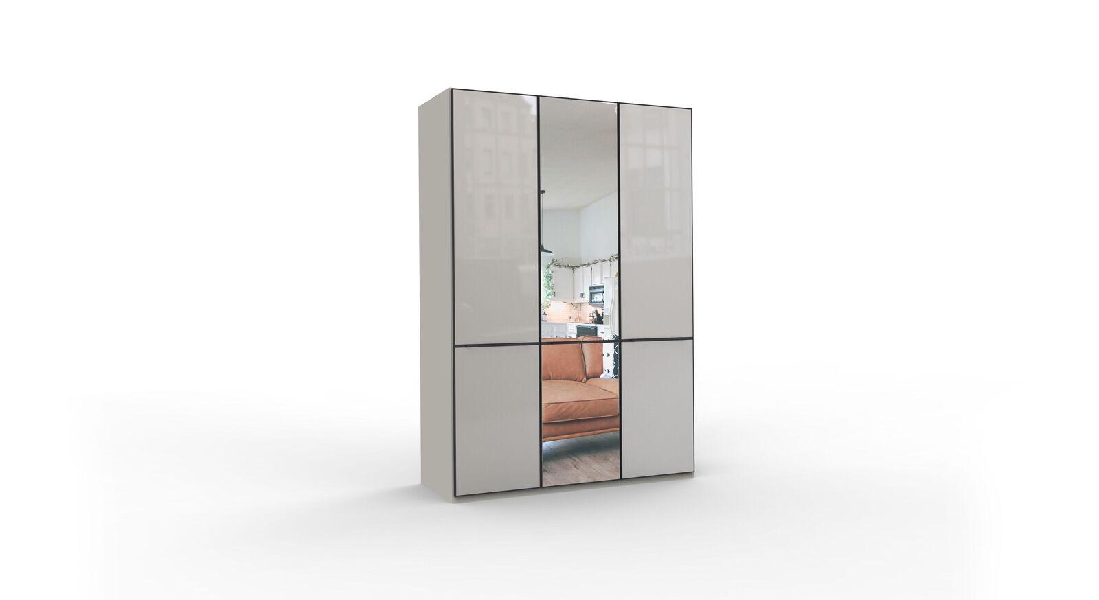 3-türiger Spiegel-Drehtüren-Kleiderschrank Loyd
