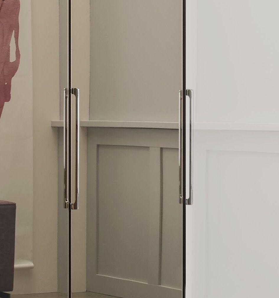 Kleiderschrank Falttueren Spiegel Dekor