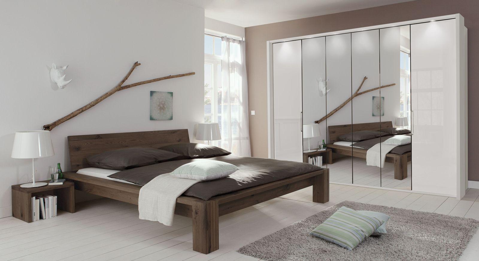 Spiegel-Falttüren-Kleiderschrank Westville mit passendem Bett