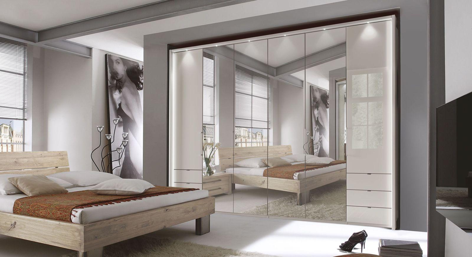 Spiegel-Funktions-Kleiderschrank Northville mit champagnerfarbener Glasfront